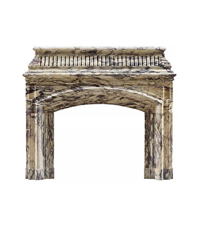 1stdibs Antique William IV Breche Violette Marble Fireplace Mantel