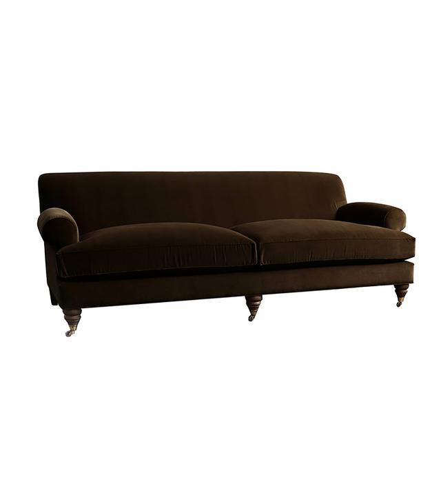Anthropologie Velvet Willoughby Sofa