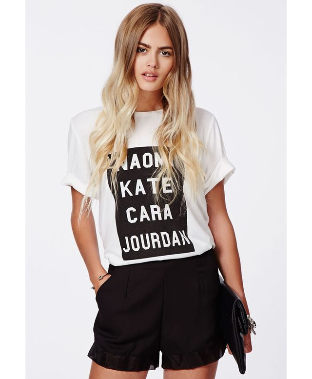 Missguided Supermodel Boyfriend Tee