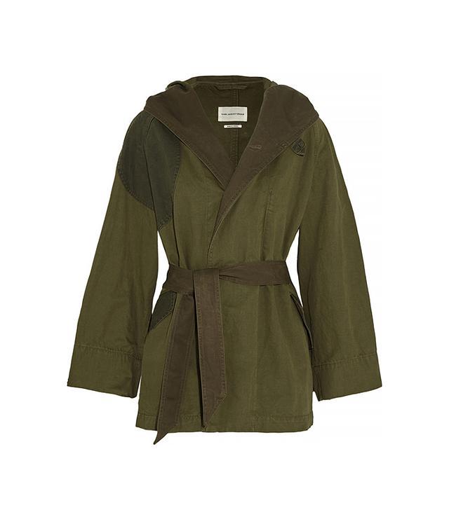 Etoile Isabel Marant Ellison Oversized Cotton and Linen-Blend Coat