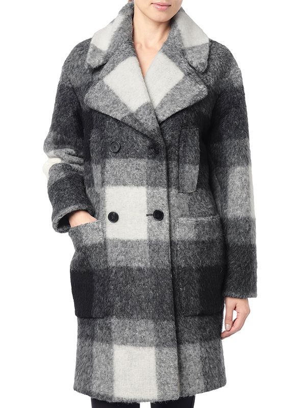 7 For All Mankind Double Breasted Cocoon Coat