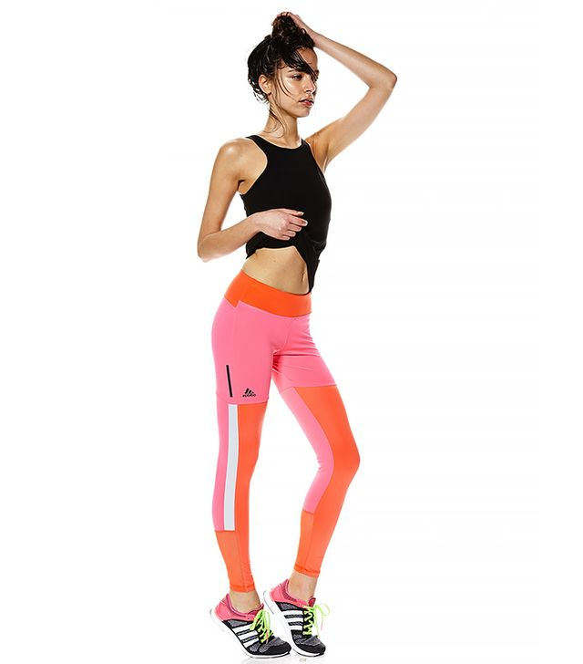 Adidas Power Tights in Solar Pink