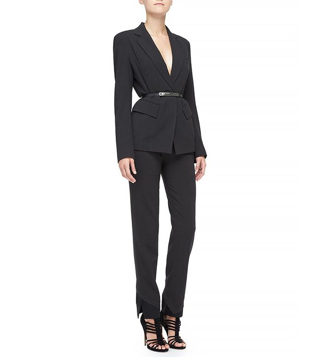 Donna Karan Fitted Two Pocket Blazer