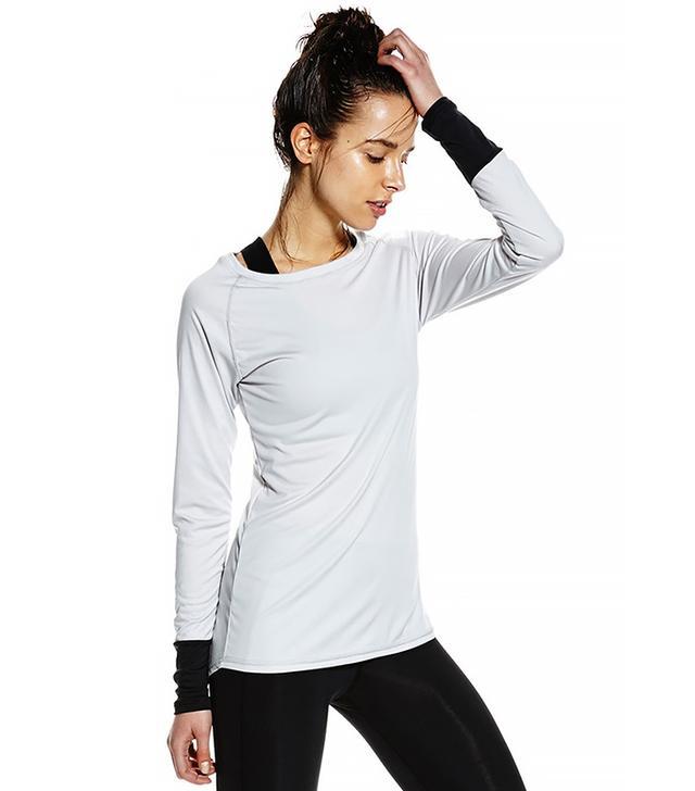 Nimble Jessica Long Sleeve Top in Grey