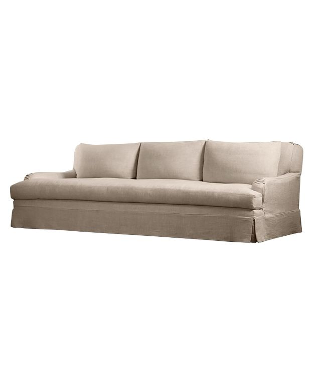 Restoration Hardware Belgian Classic Roll Arm Sofa