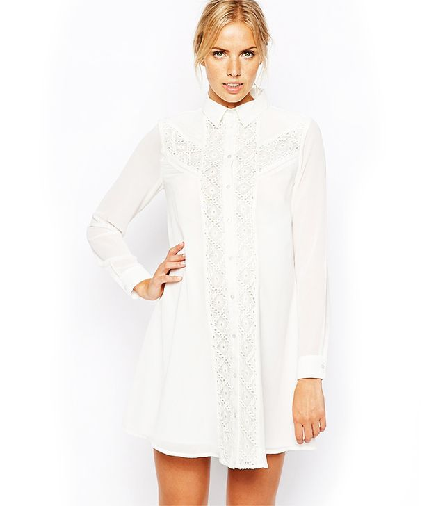 ASOS Maternity Swing Dress With Lace Insert