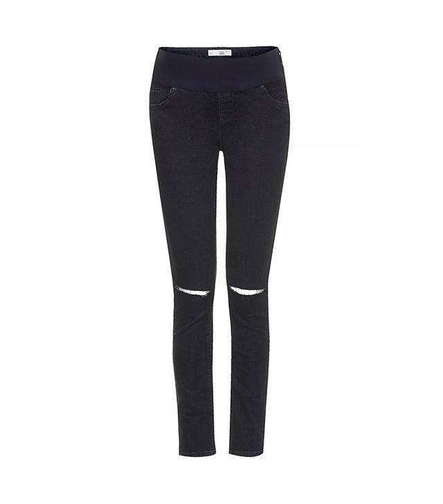 Topshop Maternity Moto Blue Black Jamie Jeans