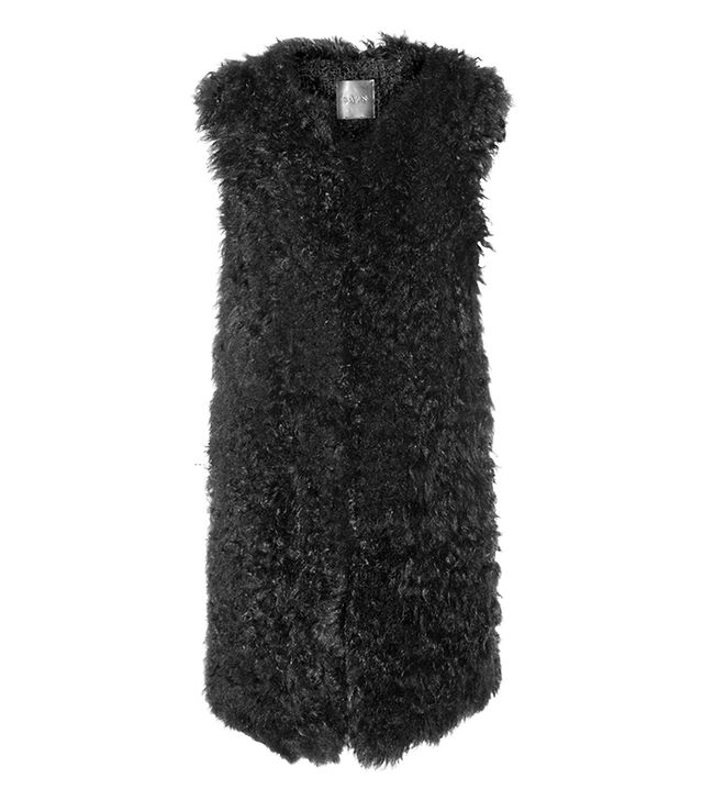 RAVN Oversized Knitted Shearling Vest