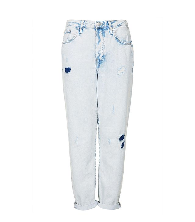 Topshop Moto Extracted Bleach Wash Hayden Jeans