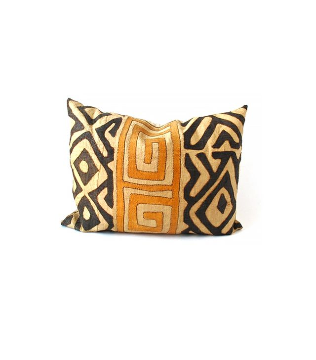 The Loaded Trunk Appliqué Kuba Cloth Pillow