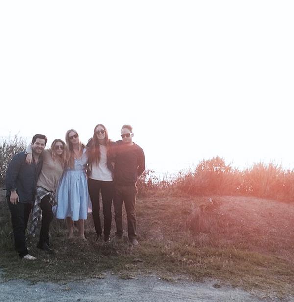 Ashley Olsen in Big Sur with friends.