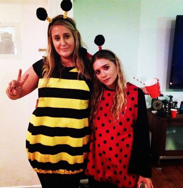 Ashley Olsen dressed up as a ladybug for this past Halloween with her friend.