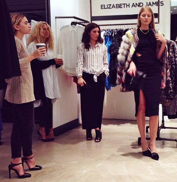 Ashley Olsen at the Elizabeth & James S/S 15 presentation at Saks Fifth Avenue in New York City.