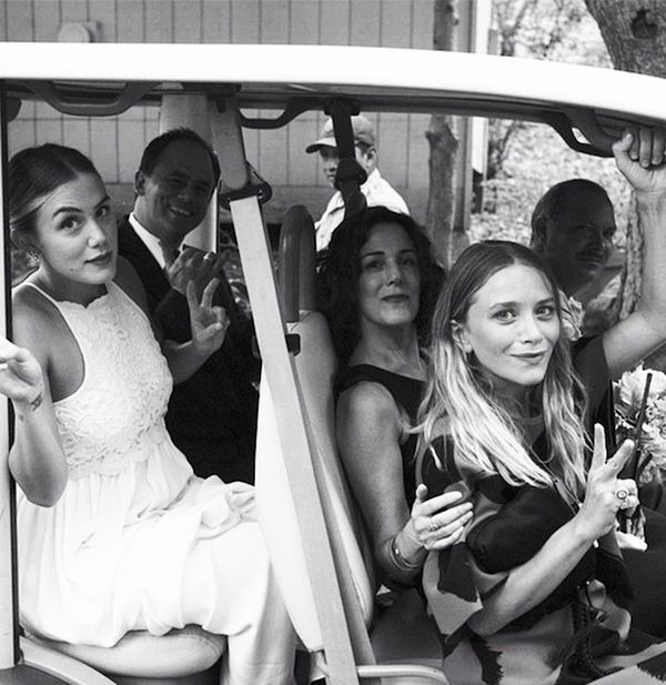Mary-Kate Olsen at a friend's wedding.