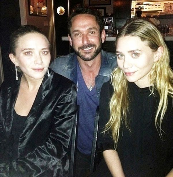 Mary-Kate and Ashley Olsen at a dinner in San Francisco hosted by The Row and Barneys.
