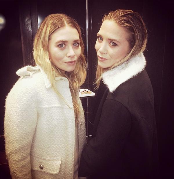 Mary-Kate and Ashley Olsen at the Elizabeth & James Nirvana fragrance debut event.