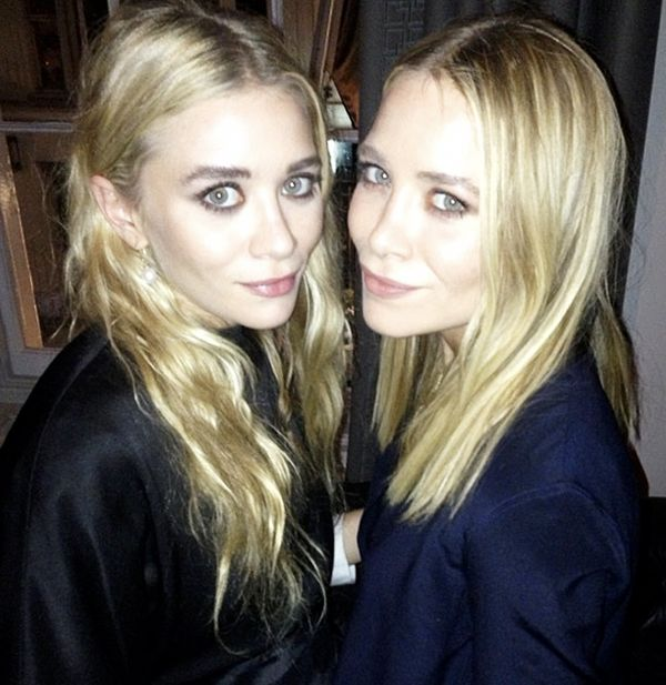 Mary Kate and Ashley Olsen at The Row presentation.