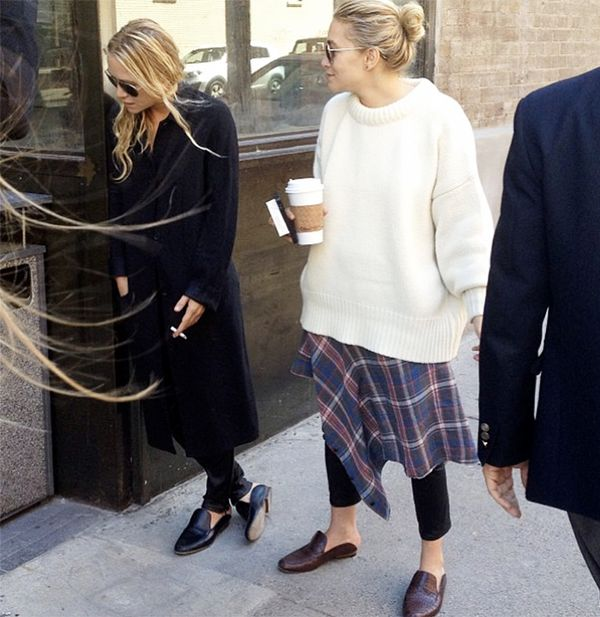 Mary-Kate and Ashley Olsen outside The Row S/S 14 casting.  Which photo was your favourite? We quite like the one of Ashley in a ladybug costume.Let us know in the comments below!