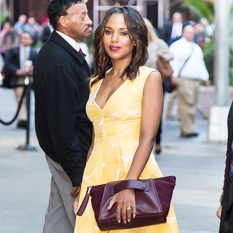 Colours That Suit Brunettes: Kerry Washington in a Yellow Dress