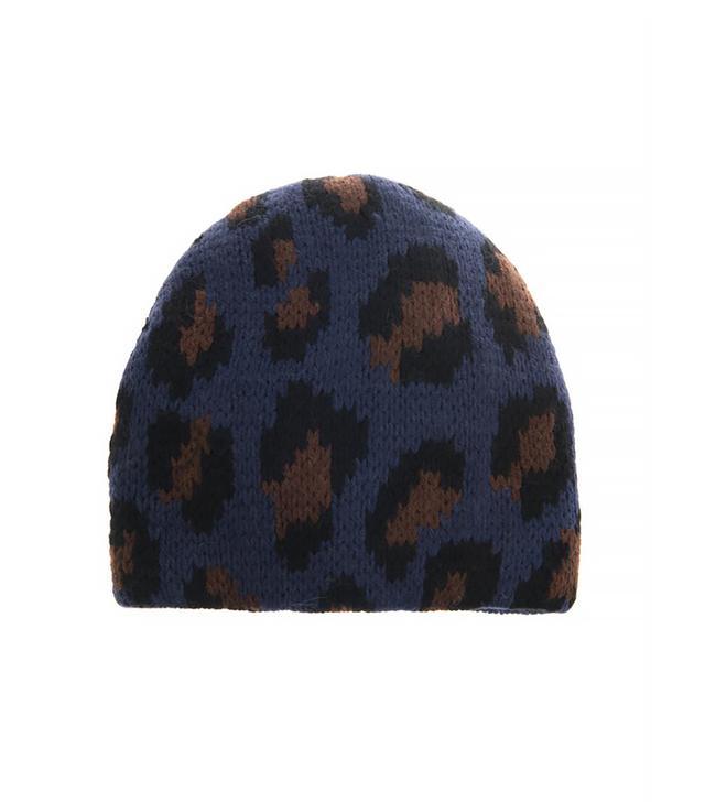 Tak.Ori Cortina Leopard Knit Beanie
