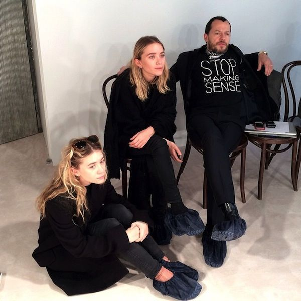 Mary-Kate and Ashley Olsen at The Row F/W 14 presentation.