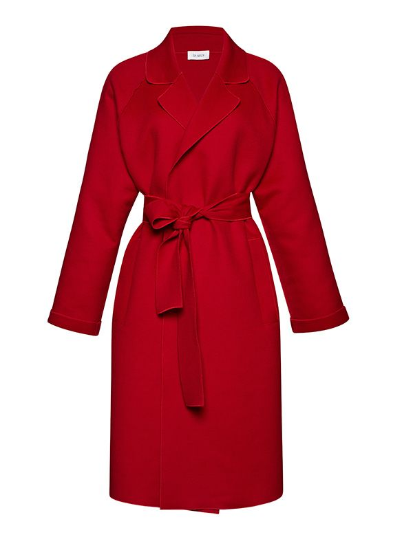 Isa Arfen Belted Wool and Cashmere-Blend Coat