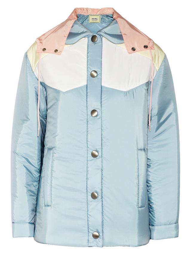 Miu Miu Colour-Block Padded Shell Jacket