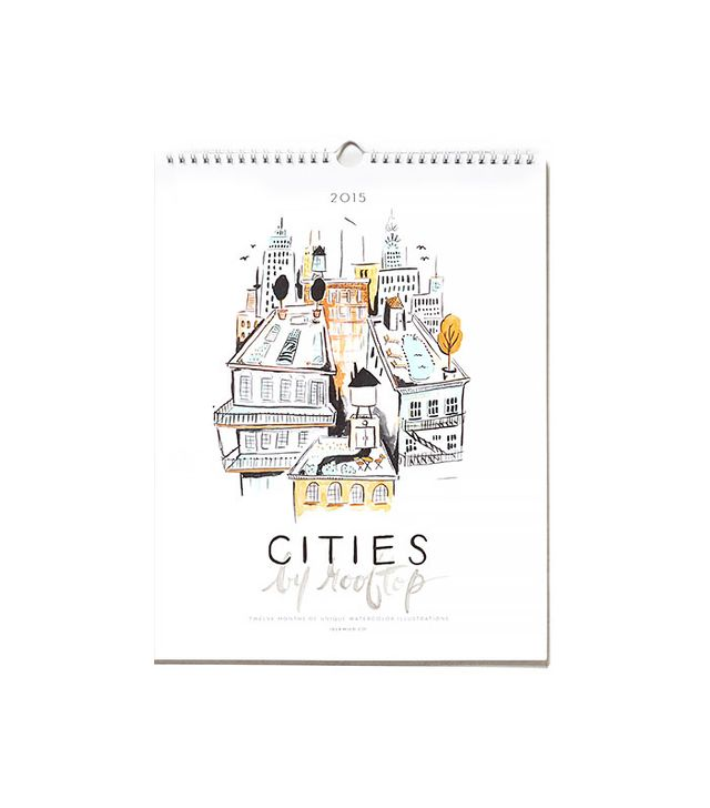 Idlewild Co. Cities By Rooftop 2015 Calendar