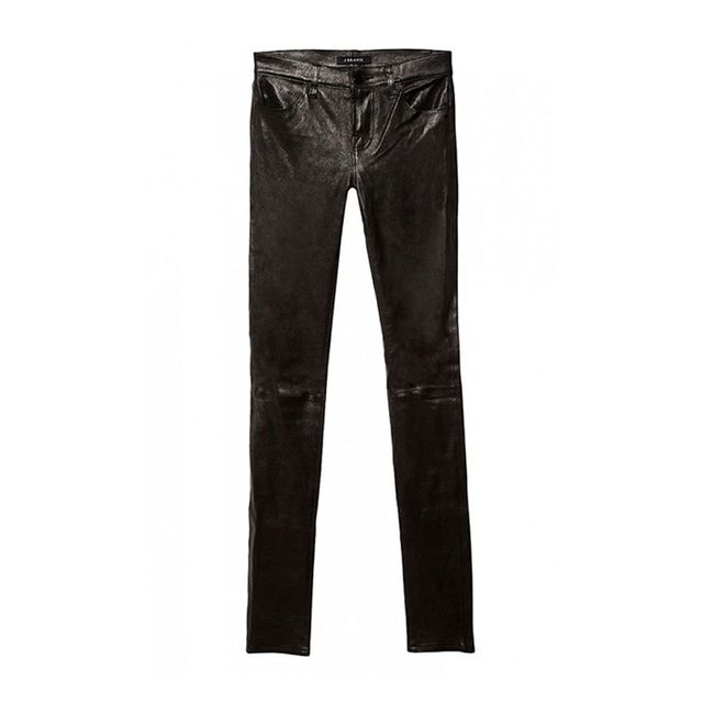 J Brand Leather Stacked Skinny