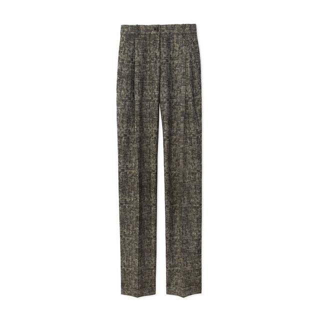 Michael Kors Smudged Glen Plaid Slouch Trousers