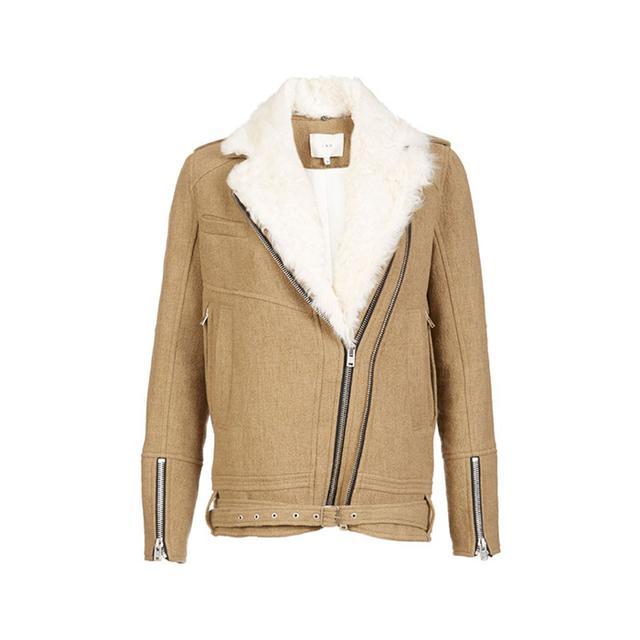 IRO Shearling Trimmed Cidji Coat