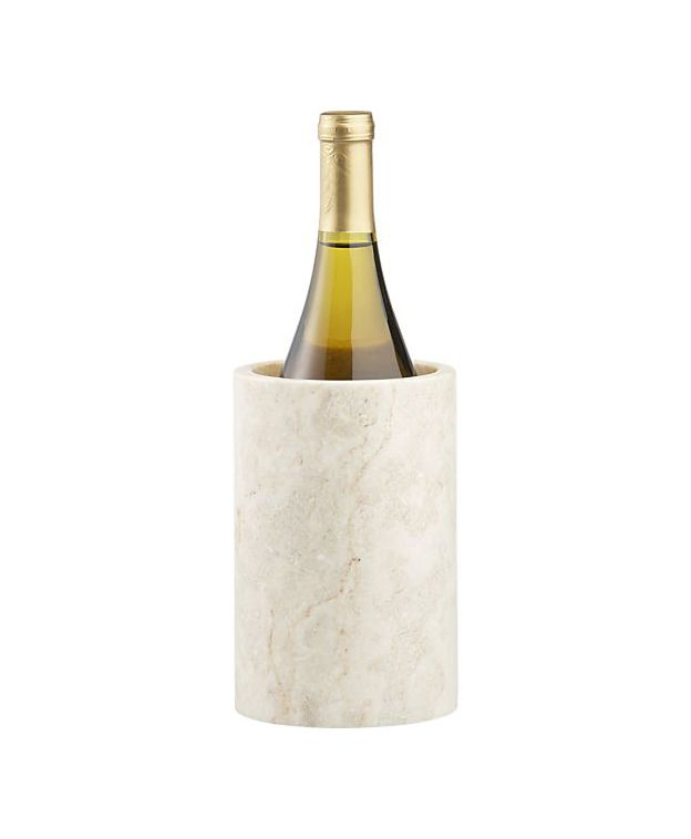Crate & Barrel Ivory Marble Wine Cooler