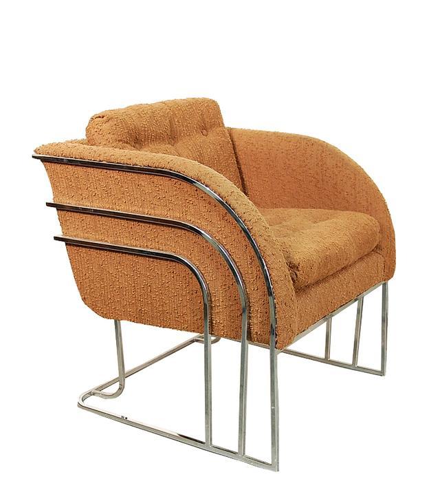 Etsy Milo Baughman Chrome Chair
