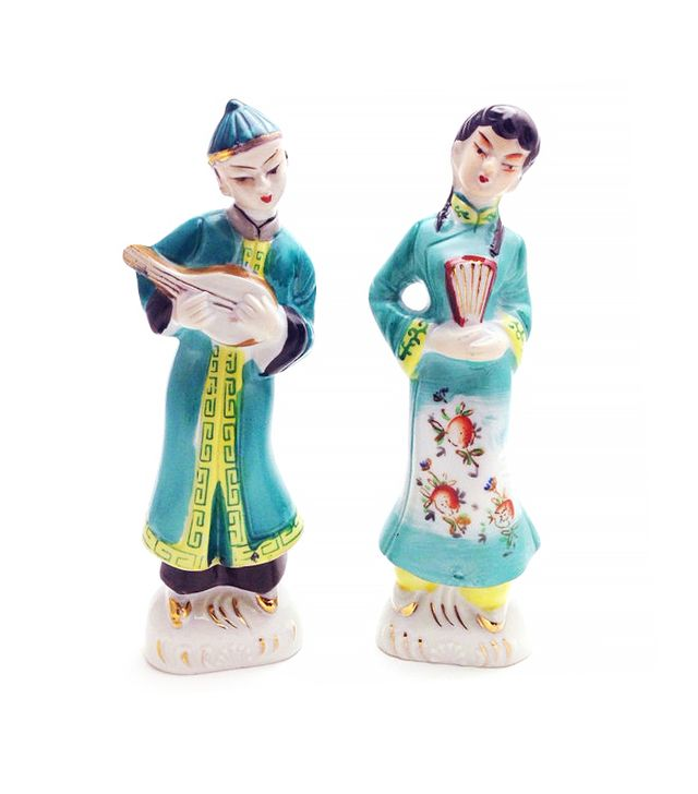 Etsy Vintage Hand Painted Asian Figurines Mid Century Hollywood Regency Chinoiserie