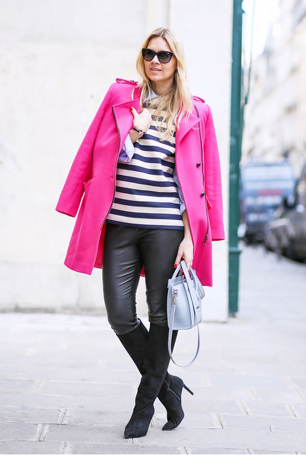 colorful coat outfits