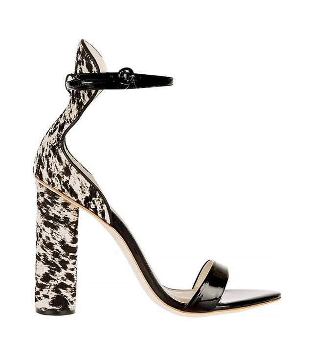 J. Crew + Sophia Webster Nicole Patent-Leather and Calf Hair Sandals