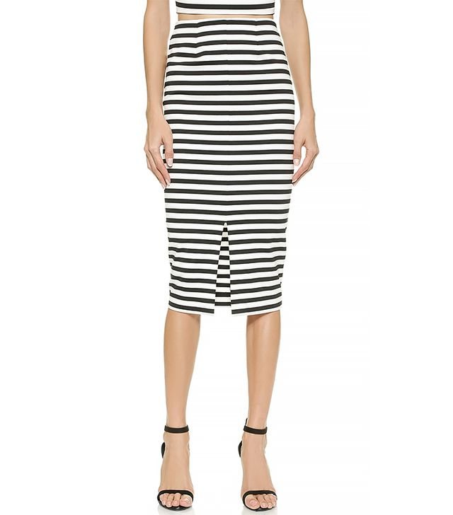 Nicholas Monaco Stripe Pencil Skirt