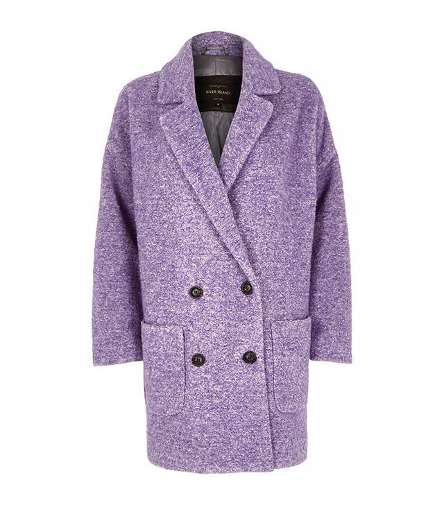 River Island Purple Oversized Coat