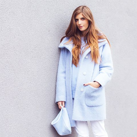 Blue Coat Street Style