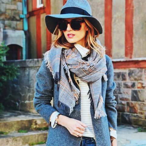 Gray Coat Street Style