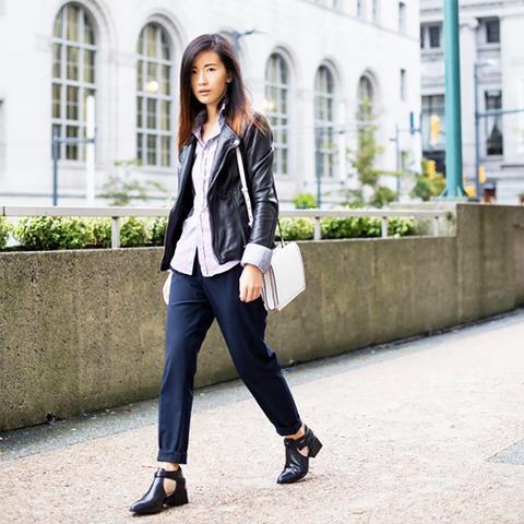 Leather Moto Jacket Street Style