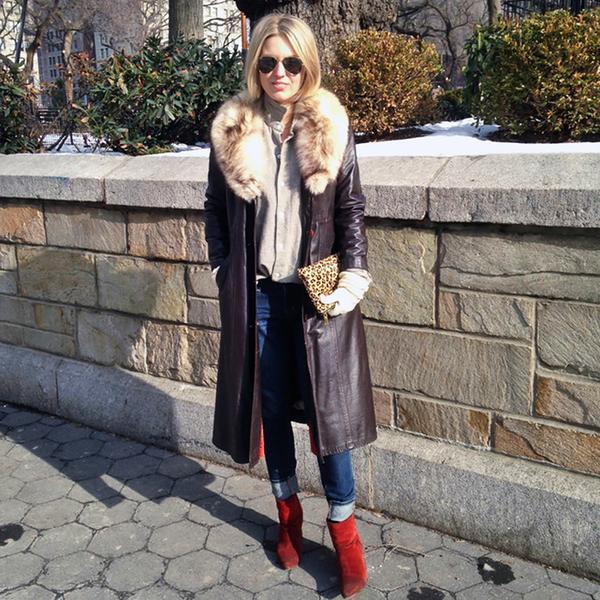 Helenisfor is wearing: Ralph Lauren top, J Brand jeans, Rag & Bone booties, J.Crew bag.  Get The Look: Diane von Furstenberg Leather & Leopard-Print Calf Hair Large Envelope Clutch ($244)  See...