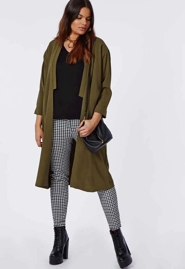 Missguided Plus Size Longline Crepe Duster Jacket