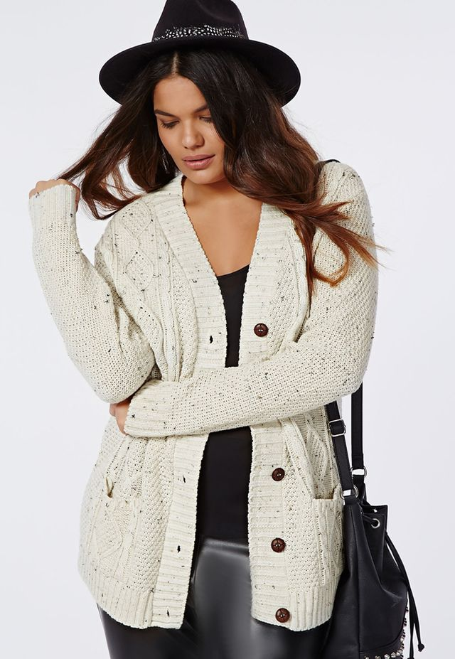 Missguided Plus Size Longline Chunky Knit Cardigan