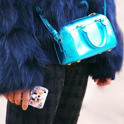 Blue Purse Street Style
