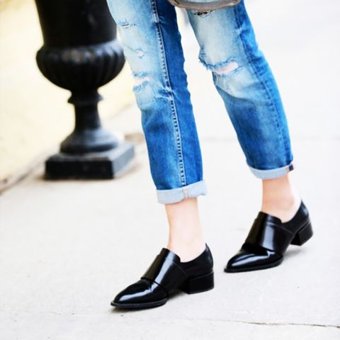 Black Loafers Street Style