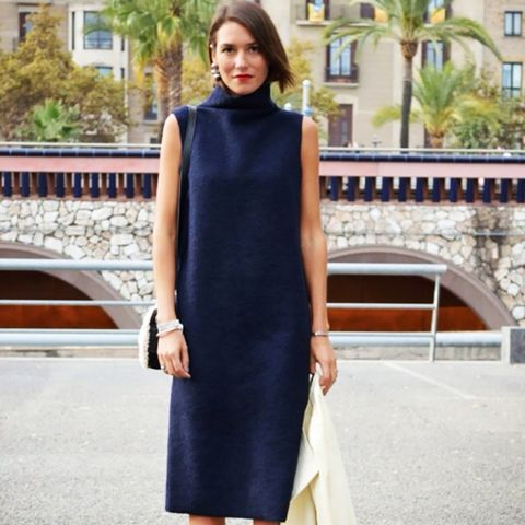 Turtleneck Dress Street Style