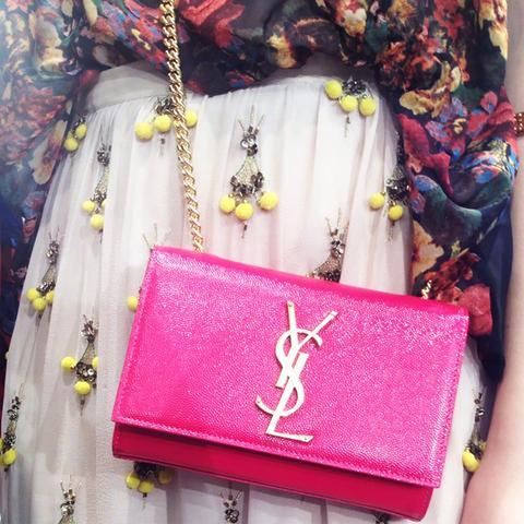 Pink Purse Street Style