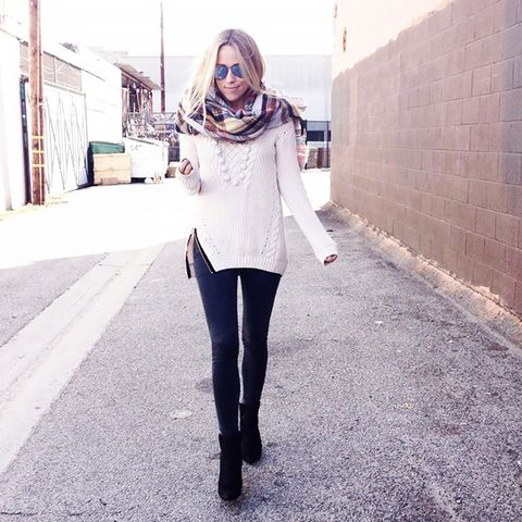 White Sweater Street Style