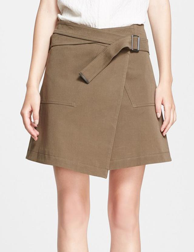 Belstaff Ryder Stretch Cotton Gabardine Wrap Skirt